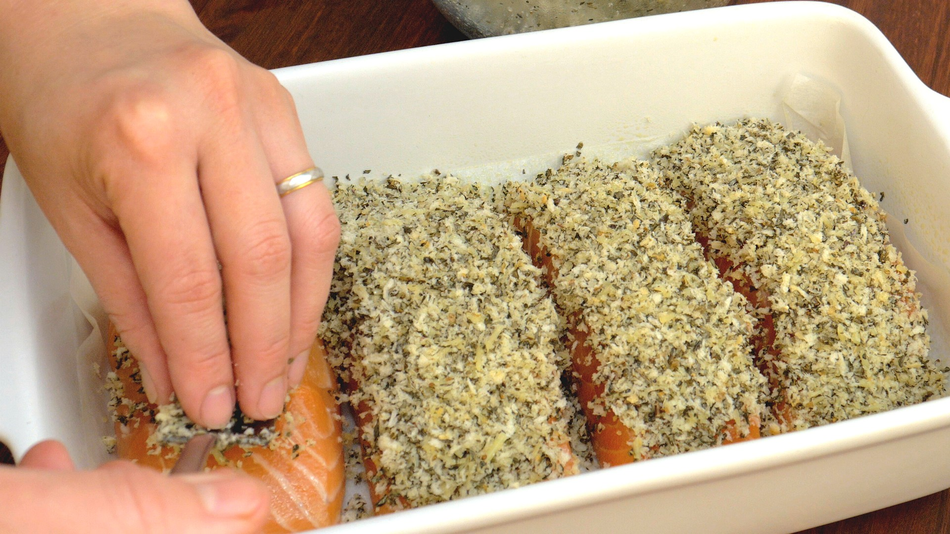S1E3 Herbs Crusted Salmon Take 2