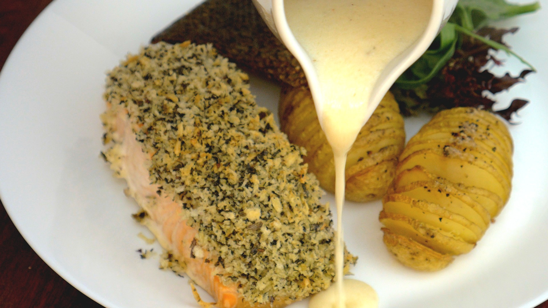 S1E3 Herbs Crusted Salmon Take 5