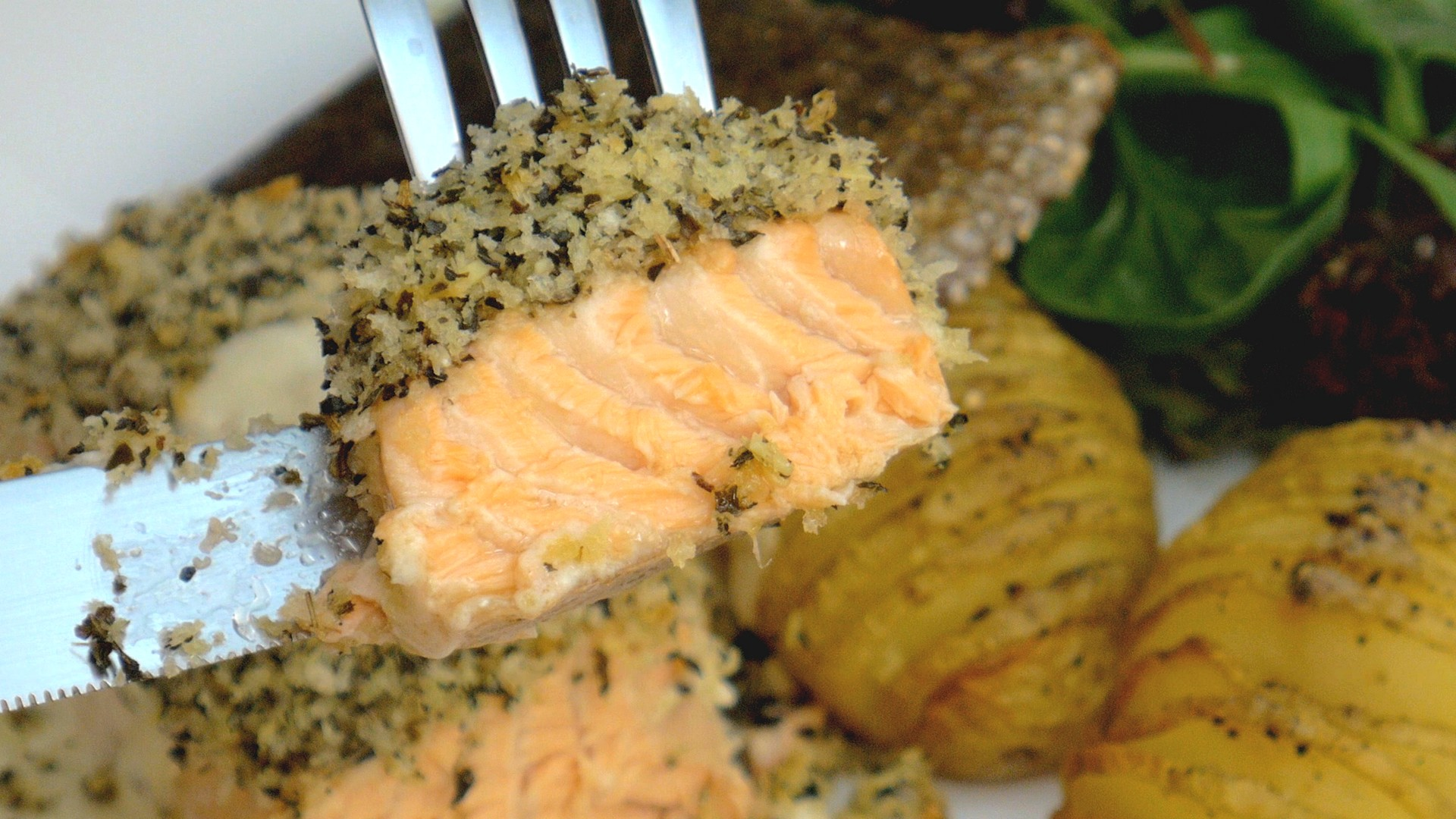 S1E3 Herbs Crusted Salmon Take 6